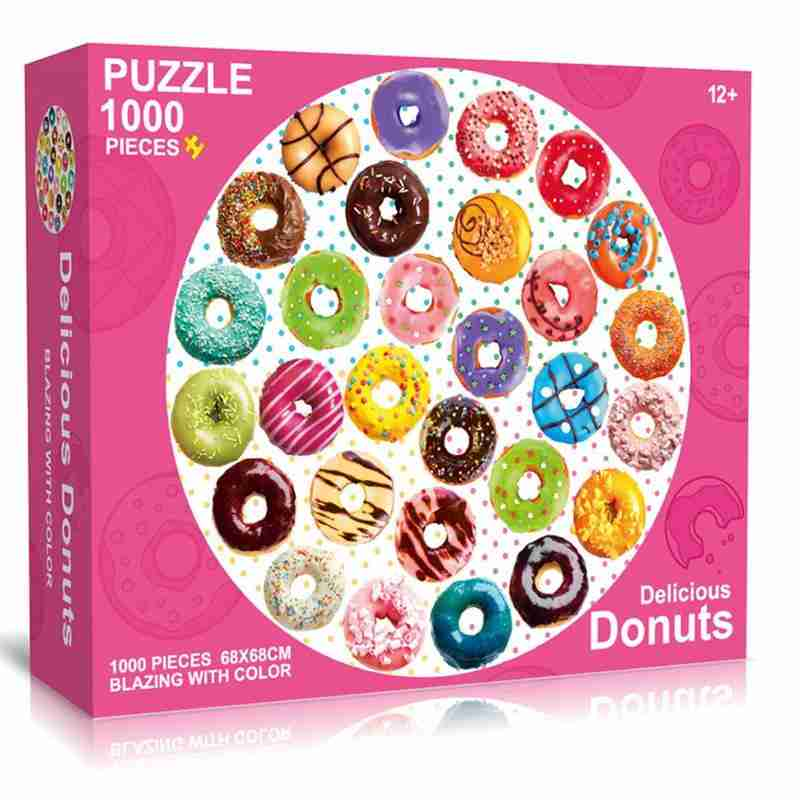 Round Puzzle Delicious Dounts/Colorful ARC/National Flags Puzzle 1000 Pieces For Adult And Kids Planets Puzzle Educational Toys