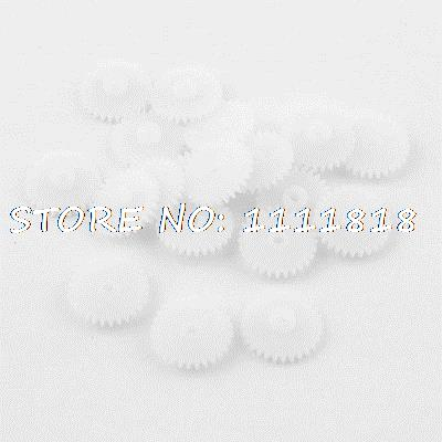 """20 Pieces White Plastic 15 X 1.5mm 0.6"""" X 0.06"""" Electric Gears"""