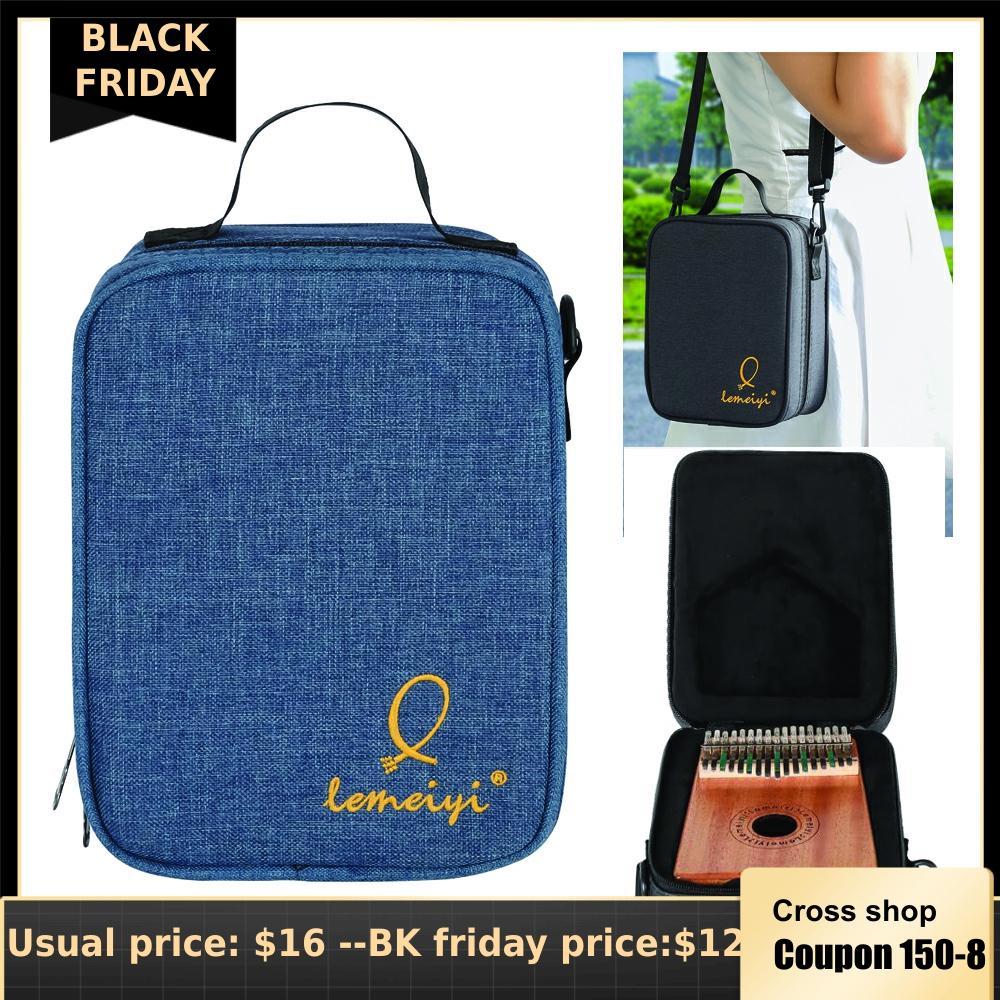 17 Key Kalimba Bag Case Portable Thumb Piano Hard Case Oxford Cloth Inside Cotton