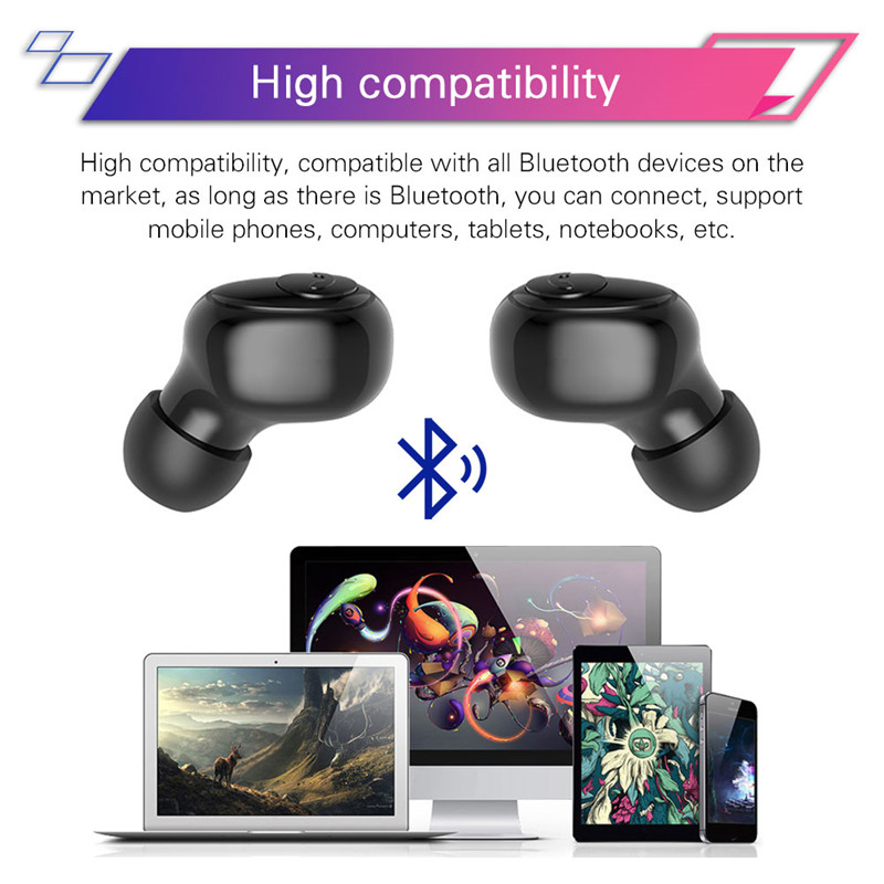 Led Display Original Earphone Bluetooth 5 0 Wireless Bluetooth Stereo Earphones Earbuds 3500mAh Power Bank Earphone Waterproof in Phone Earphones Headphones from Consumer Electronics