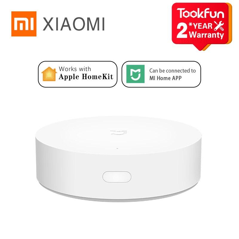 Xiaomi mijia inteligente multimodo gateway zigbee3.0 bluetooth malha ligação casa inteligente equipamentos de controle remoto apple homekit