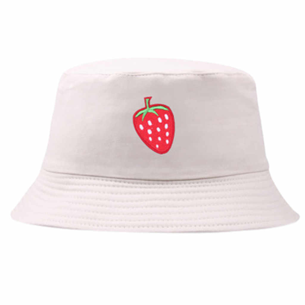 2019 Cute Fashion Hip Hop Cap Maple Panama Bucket Hat Women Men Couple Cotton Fishing Hat Sun Flat Top Fisherman Hats Caps