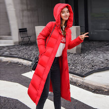 Winter Coat Women Hooded Jacket Windproof High Collar Down Female Elastic Cuffs Thicken Puffer Womens Chaqueta Mujer