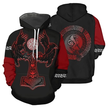 Viking Tattoo Pattern 3D All Over Printed Sweatshirt/zip Hoodie 5