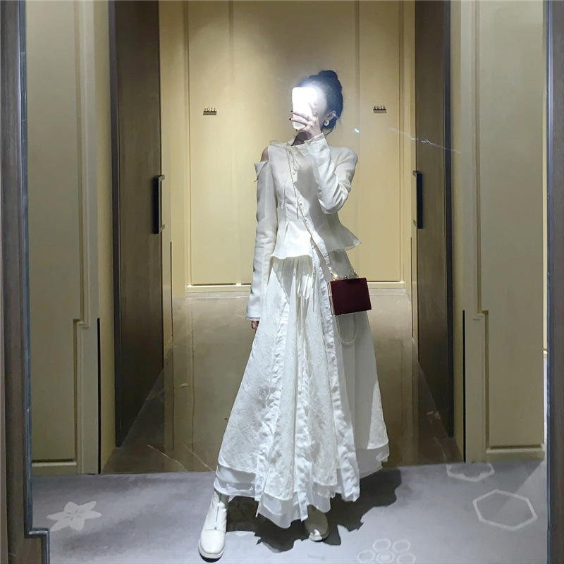 Photo Shoot 2020 Spring Cool Charm French Dark Pioneer GIRL'S Organza Palace Style Xie Kou Coat