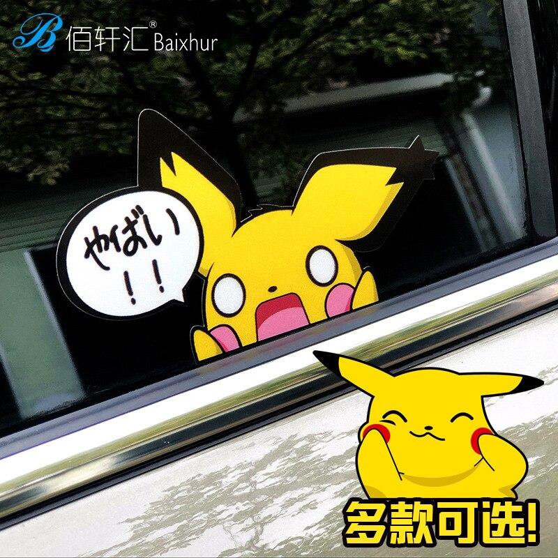 2pcs-font-b-pokemon-b-font-pikachu-cartoon-stickers-skateboard-laptop-luggage-car-sticker-cosplay-prop-accessories