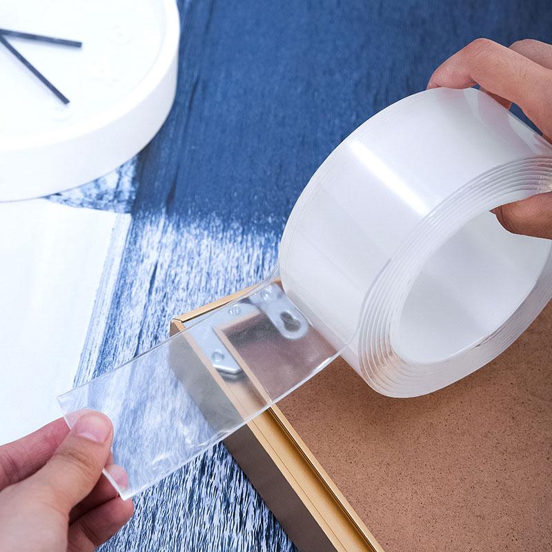 Двусторонняя нано-лента, прозрачная многоразовая водонепроницаемая клейкая лента, 20 мм/30 мм/50 мм, не оставляет следов, стикер для очистки кл...