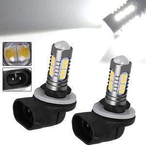 2835+3030 smd beads H27 880 Led Bulb For Cars H27W/1 H27W1 Auto Fog Light DRL 12V 880 LED Bulbs Driving Daytime Running Light(China)