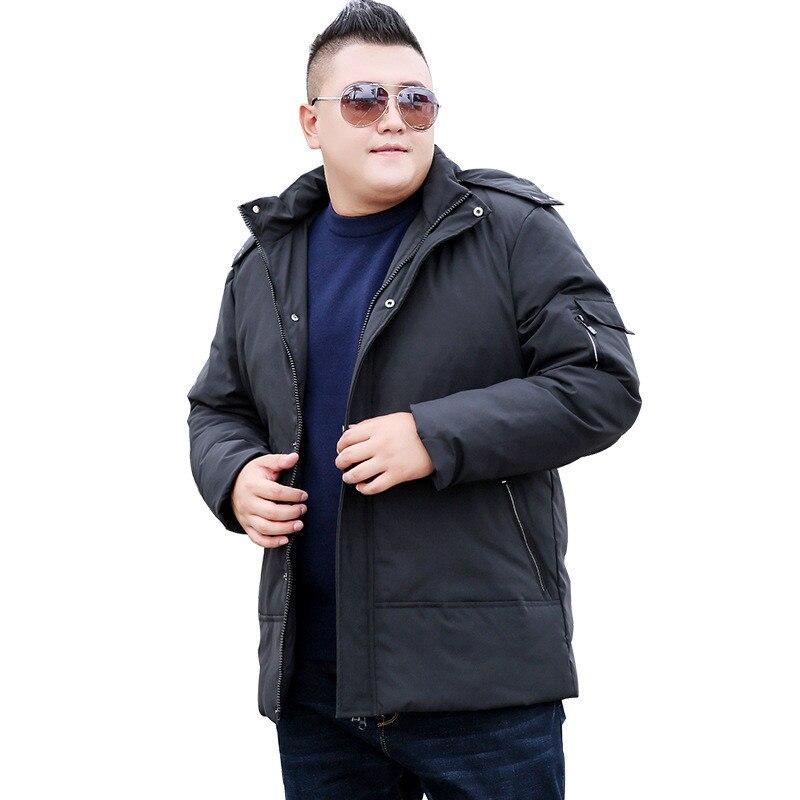 Новая мода, плюс размер ветровка мужская зимняя парка с капюшоном теплая куртка Повседневная Длинная секция негабаритная 9XL 10XL хлопок пальт...