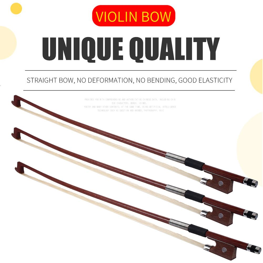 Portable 1/4 1/8 Playing Violin Bow Octagonal Bow Musical Instruments Practice For Beginner Violin Accessories
