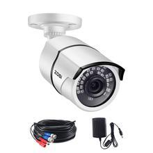 ZOSI 5MP 슈퍼 HD 야외/실내 보안 카메라 36PCS led, 100ft IR 야간 투시경, 비바람에 견디는 감시 CCTV 총알 카메라