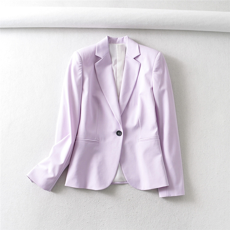 H473b4e746dae4f1ab4568bd9ff17088fj - Autumn Women Pant Suits Pink Single Button Blazer Jacket+Zipper Trousers Office Ladies Suits Two Piece Set Female Outwear