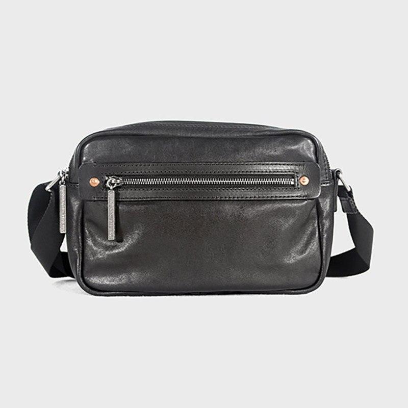 Cloud Mens Bag Briefcase Computer Shoulder Portable Diagonal Bag Business Casual Color : Black, Size : 39cm