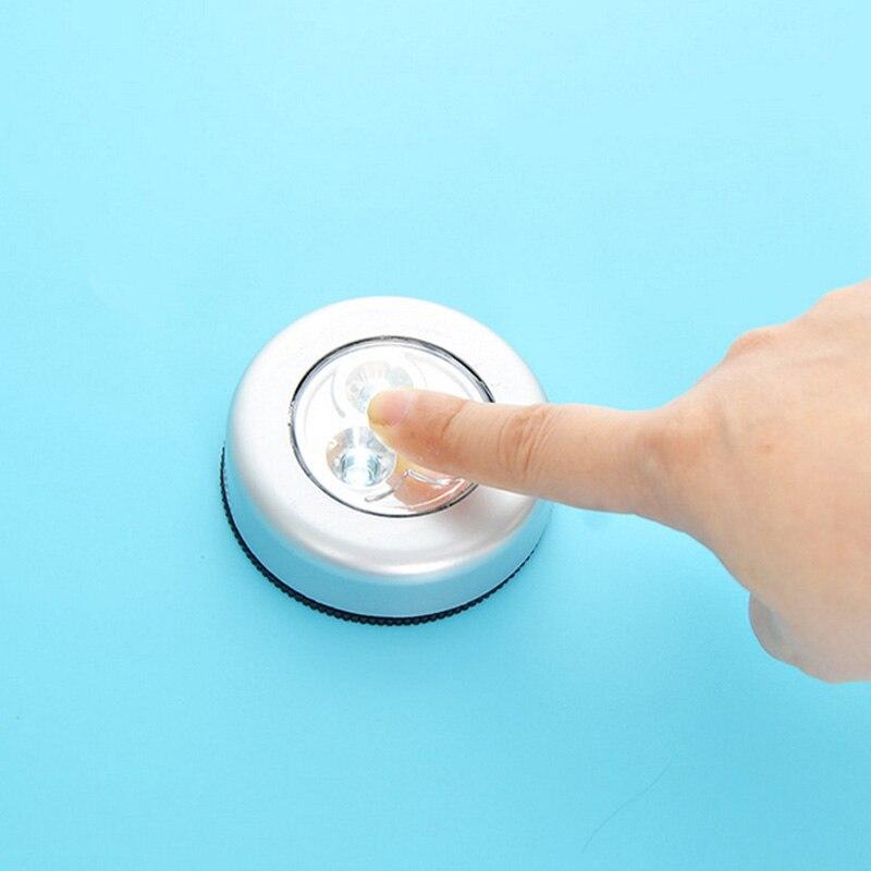 5/2/1 шт., 3 светодиодный светильник для шкафа, серебристый, с питанием от аккумулятора, беспроводная палка, сенсорное нажатие, безопасность, кухня, спальня, ночной Светильник|Ночники|   | АлиЭкспресс