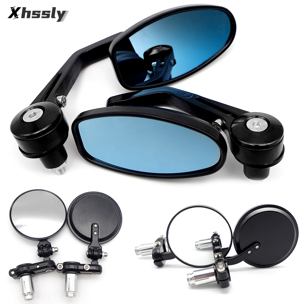 Motorcycle Mirrors Rear View Handlebar End Mirror 22mm Cafe Racer For SUZUKI Drz 400 Sm Gn 125 Bandit 600 Sv650 Drz 400 Dr 350