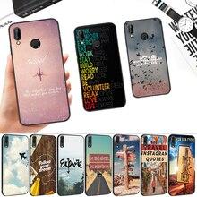 Travel Plans adventure Silicone Soft Case for Huawei P8 P9 P10 P20 P30 Lite Pro P Smart Z Plus