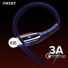 USB Charging Cable For iPhone Xs Max Xr X 3A Lighting Fast Charge Charger Phone 8 7 6s Plus 5 5s iPad Data Wire Cord