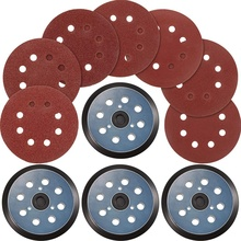 Hot 12 Pieces 40 Grits Sanding Discs, 60 Pieces Grits Sandpaper Compatible with DeWalt, Makita and Porter Cable