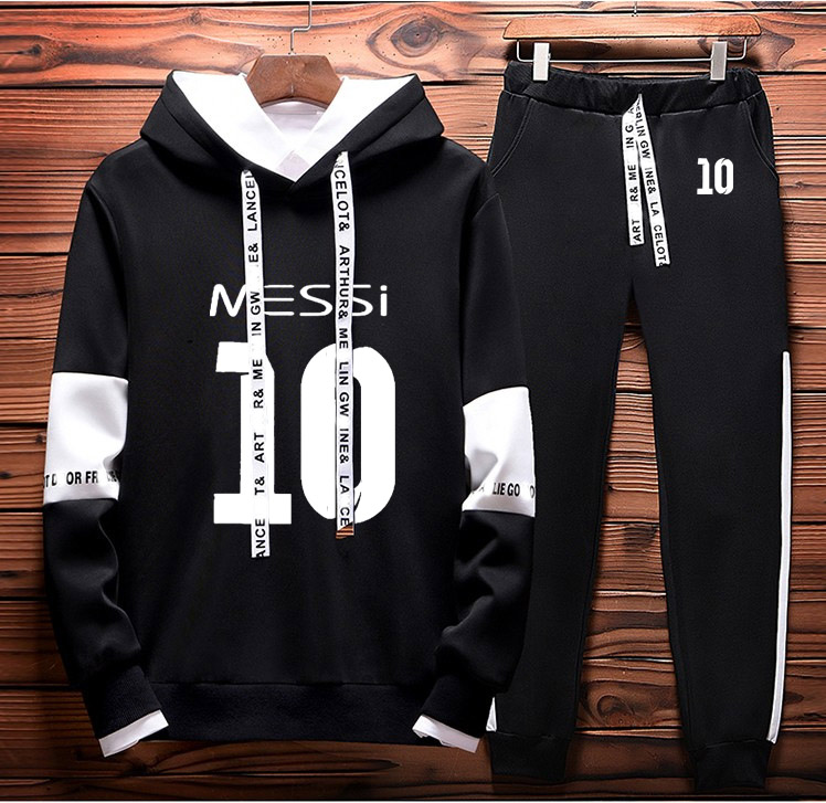 Hoodies Men Messi 10 Printed Sportwear Men Hoodies Casual Fleece Sweatshirts Harajuku Tracksuit Mens Hoodies Pants Suit 2Pcs