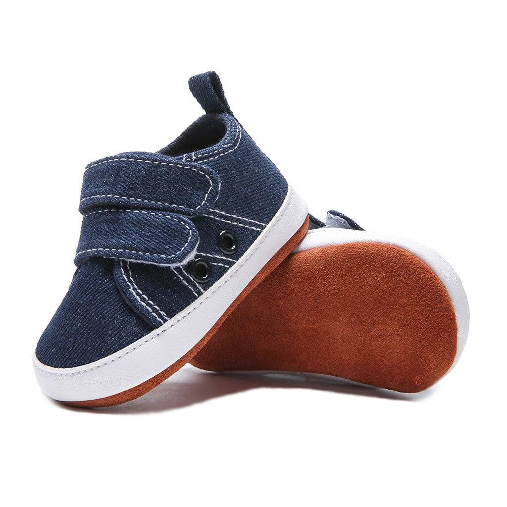 Newborn Shoes Baby New Fashion Denim Non-slip Toddler Shoes Single Shoes Casual Shoes Buty Niemowlece Schoenen