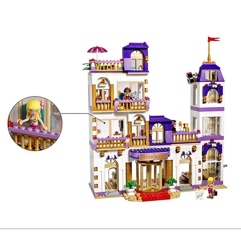 1676Pcs Heartlake Grand Hotel เพื่อนบล็อกอาคารอิฐเข้ากันได้ Legoinglys เด็ก DIY ของขวัญวันเกิดของเล่นเด็ก-ใน บล็อก จาก ของเล่นและงานอดิเรก บน   3