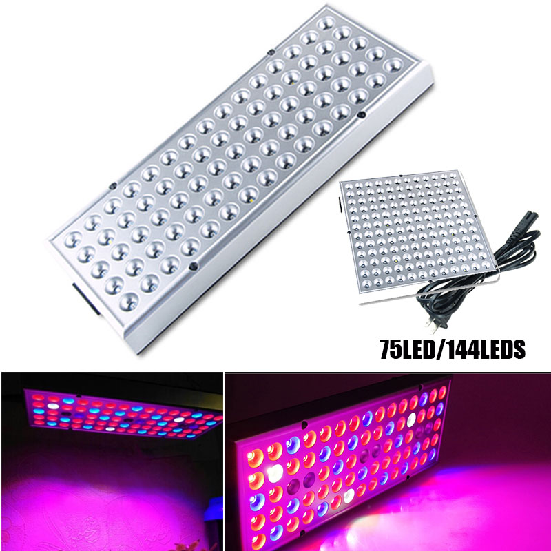 25W/45W Cultivo LED Plants Grow Panel Light Full Spectrum Phyto Lamp 75 LED 144 LED Seeds Indoor Greenhouse Growbox Tent Room