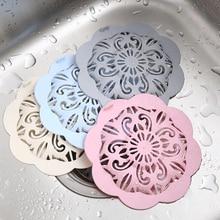 Floor Drain Sink Plug Flower Shape Kitchen Drainer Filter Bathroom Shower Accessories Hair Stopper 11.5*8cm Sink Strainer TPR
