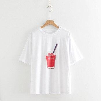 Femme summer t shirt women lady cotton tshirt female  clothing t-shirt printed top fashion tee shirt