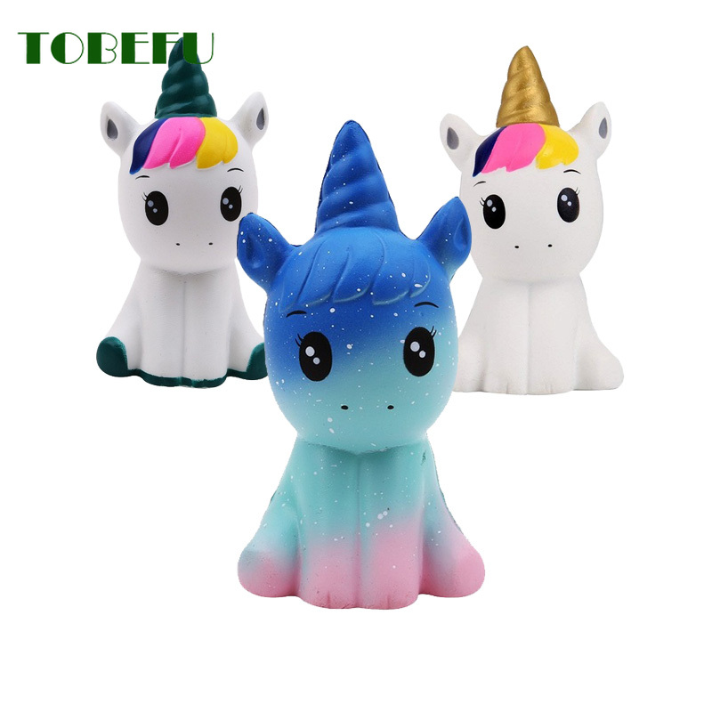 TOBEFU Unicorn Squishy Animals Slow Rising Squishies Mochi Toys for Stress Relief Christmas Gifts