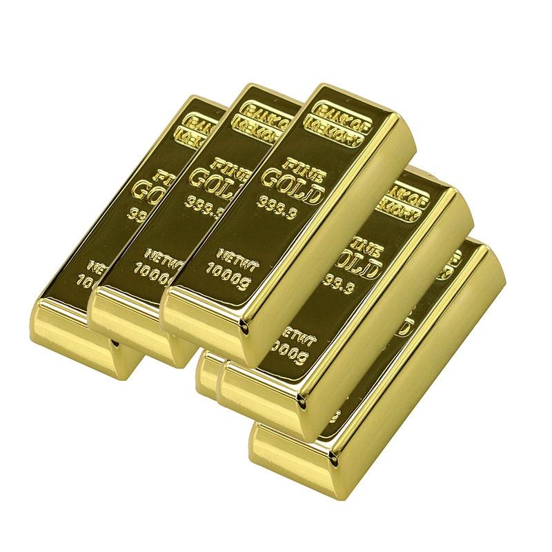 Metal Gold Bars Brick Model USB Flash Drive Bullion Pen Drive Memory Stick Pendrive 4GB 8GB 16GB 32GB 64GB U Disk Thumb Drive