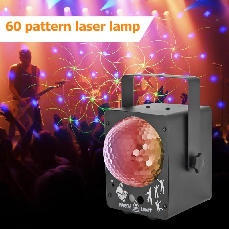 Laser Projector LED Stage Light Sound Activated Disco Ball Lamp For DJ Music Club Dancing Party Effect Lighting