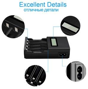 Image 5 - PALO 4 sloty wyświetlacz LCD inteligentna ładowarka do akumulatora do 1.2V AA akumulator aaa NI MH NI CD bateria z wtyczką ue AU US UK