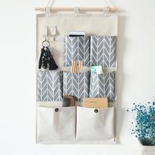 7 bolsos à prova dwaterproof água pendurado na parede sacos de armazenamento livro chaves do telefone móvel porta organizador bolsa quarto dormitório recipiente escritório