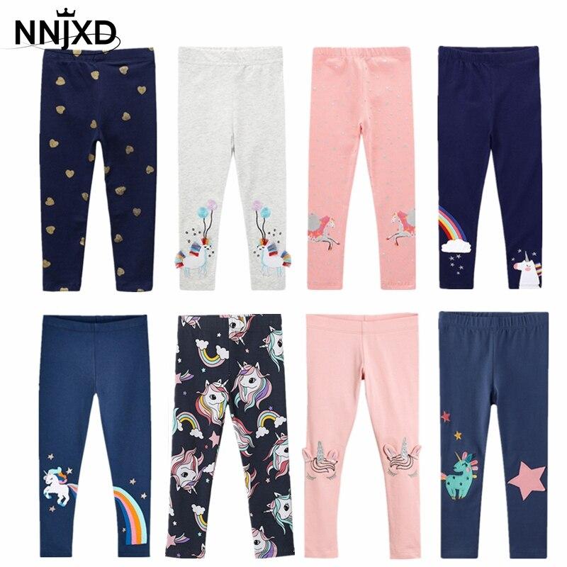 Leggings 100% coton pour enfants, pantalons pour garçons et filles, pantalons moulants à motifs imprimés de dessins animés