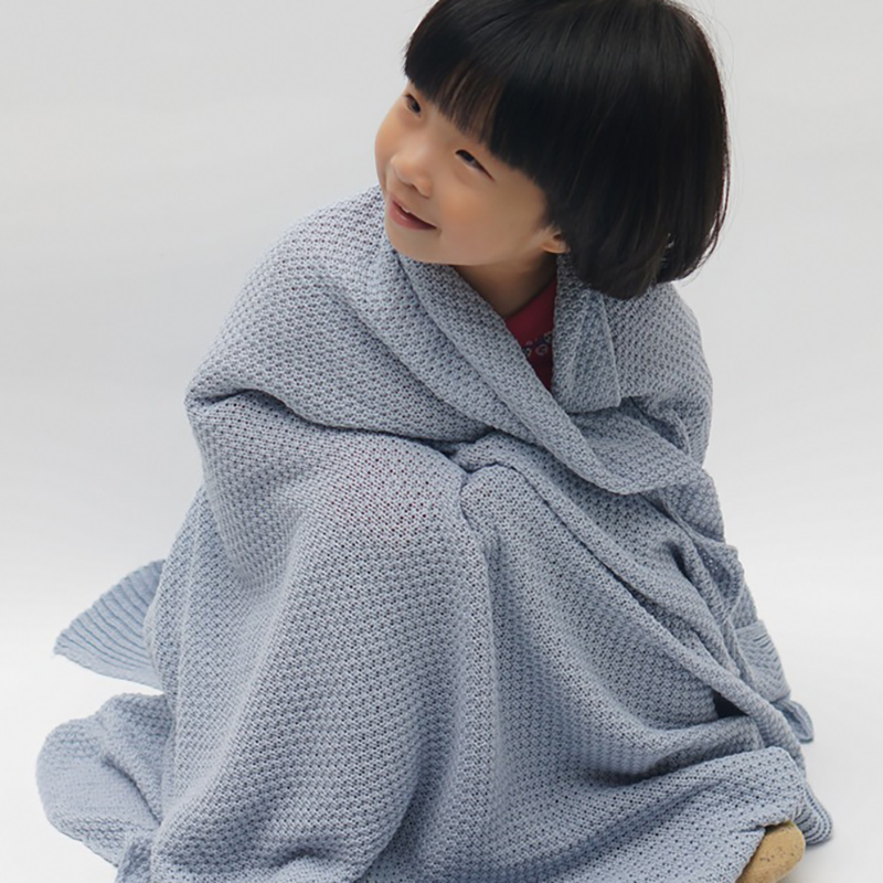 Newborn Muslin Swaddle 85*105cm Receiving Blanket 4 Colors Knit Baby Blanket For Baby At Night
