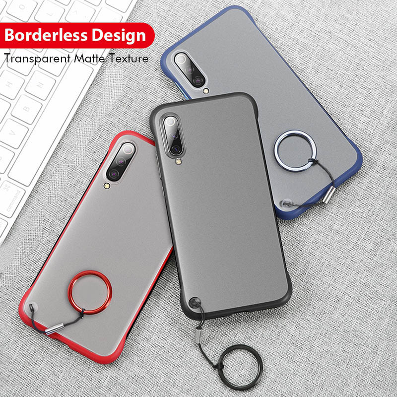 Luxury Borderless Phone Case For <font><b>xiaomi</b></font> <font><b>mi</b></font> <font><b>9</b></font> 9t pro Frameless Matte cover case with Ring on for <font><b>xiaomi</b></font> mi9 <font><b>se</b></font> <font><b>9</b></font> t pro shell <font><b>capa</b></font> image