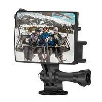Selfie Flip Spiegel Vlog Spiegel für GoPro Hero 8 Vlogging Flip Bildschirm Halterung für Gopro 7 6 5 Yi Mijia SJCAM mit Befestigungs Schraube