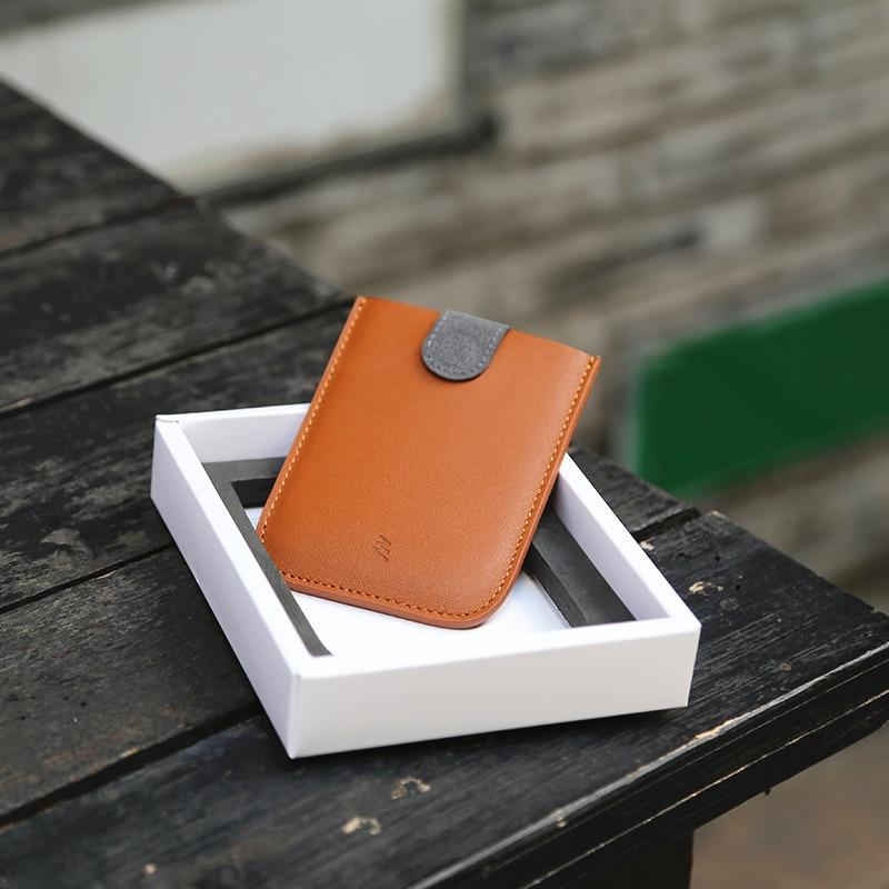 New Arrival DAXv2 Mini Slim Portable Card Holder Pulled Design Men Credit Card Holder Gradient Color 5 Cards Money Short Wallet