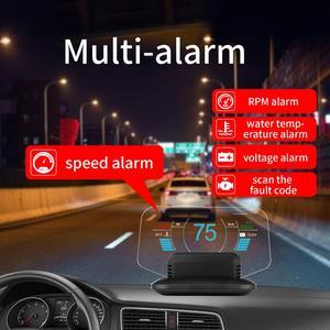 Image 4 - Mais novo gps automotivo display obd, display de carro com display hud, velocímetro c1, aviso de sobrevelocidade, obd2 + gps, modo duplo velocímetro, velocímetro
