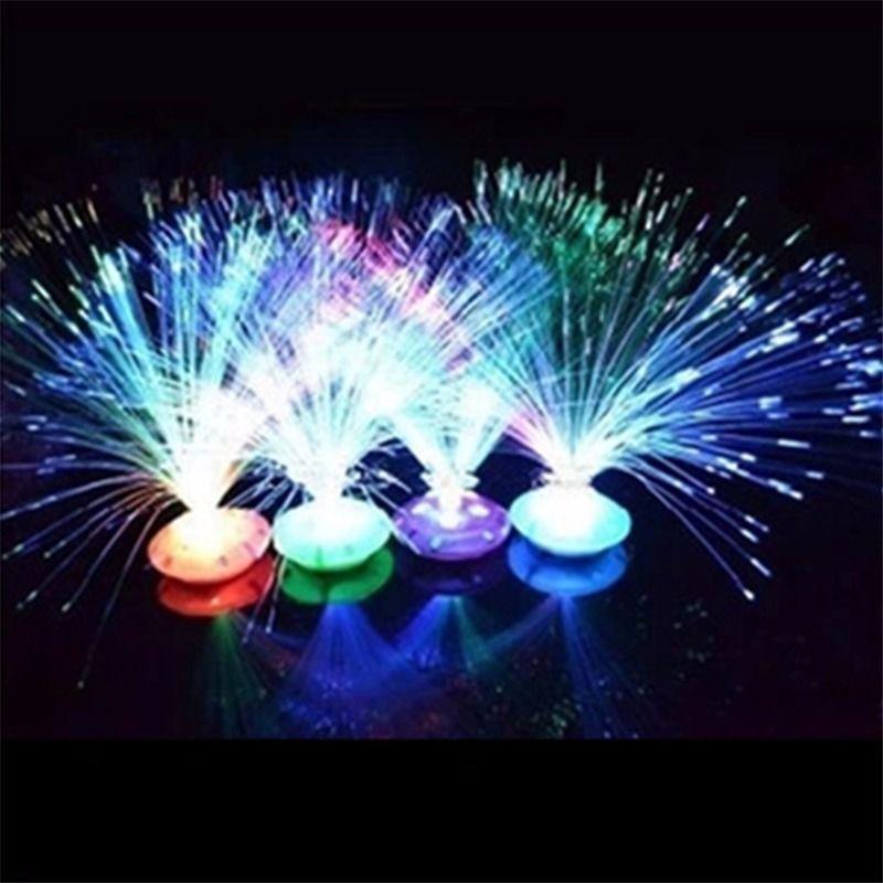 Новый светодиодный оптоволоконный Ночной светильник, меняющий цвет, декоративная подставка, Детский Рождественский подарок, вечерние ночники, Прямая поставка
