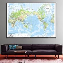 60x90cm мира Меркатора картографическая проекция холстина HD спрей живописи для гостиной стены декор