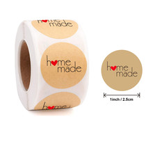 1 Inch 500 Pcs /Roll, Kraft Paper High Quality Personalized Seal Label, Baking Gift Card, Party, Wrapping Sticker Small Business