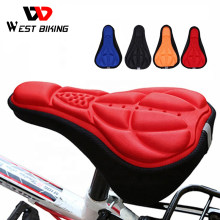Bicycle Saddle Cycling Seat Cover Cushion 3D Breathable Bike Mountain Cycle Accessories Thickene Sponge Pad for Outdoor, Racing