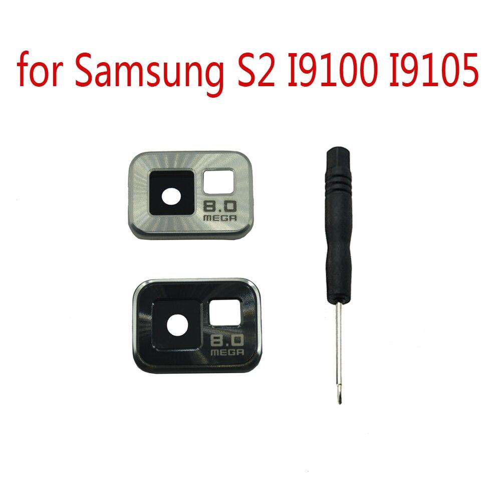 Camera Glass Lens Cover For Samsung S2 I9100 I9105 I9100P I9105P Original Mobile Phone New Camera Lens With Metal Case + Tools