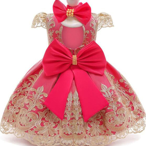 Новинка 2020 года, летняя одежда для маленьких девочек, вечерние платья для девочек 2 лет на день рождения, платье на крестины для маленьких де...