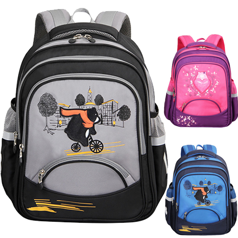 School Bags For Boys Girls Primary Cartoon Bear Large Capacity School-bags  Children Orthopedic Backpacks Satchel Student Bag