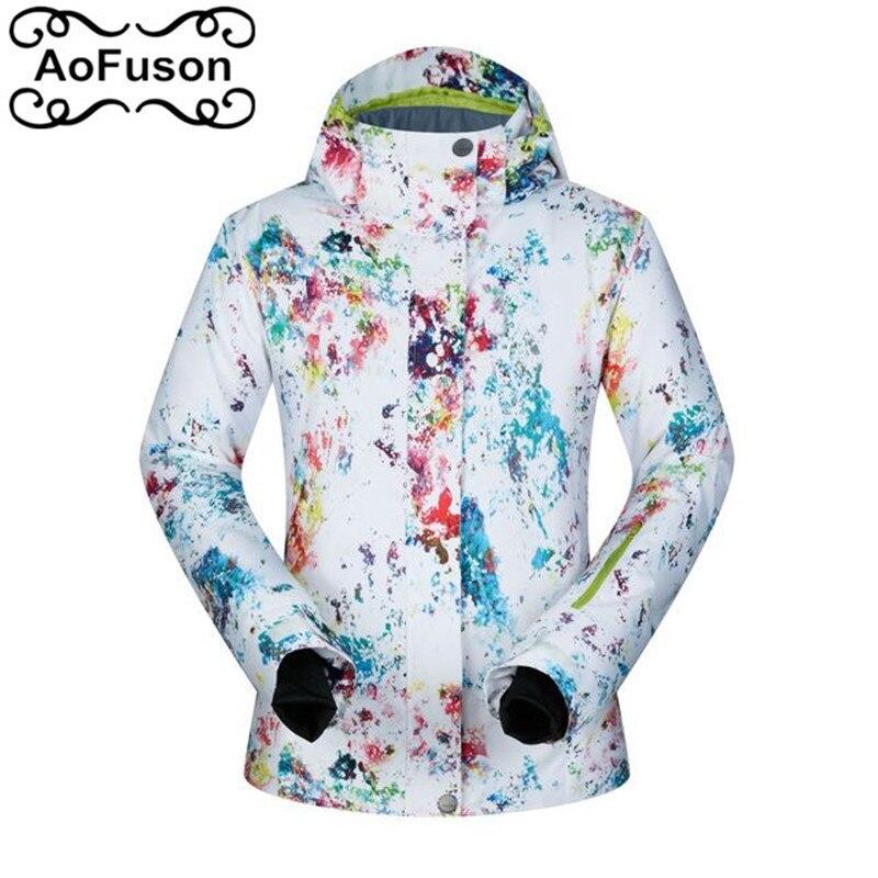 Neige Snowboard vestes imprimé Plaid Graffiti femmes veste de Ski coupe-vent imperméable Ski & Snowboard manteaux vêtements thermiques