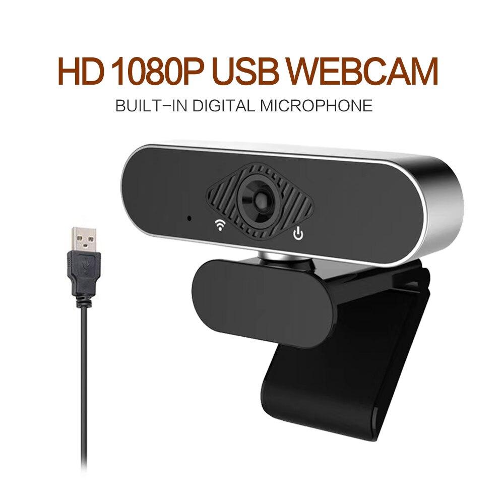 Hd 1080p веб камера Мини компьютер ПК с микрофоном вращающиеся