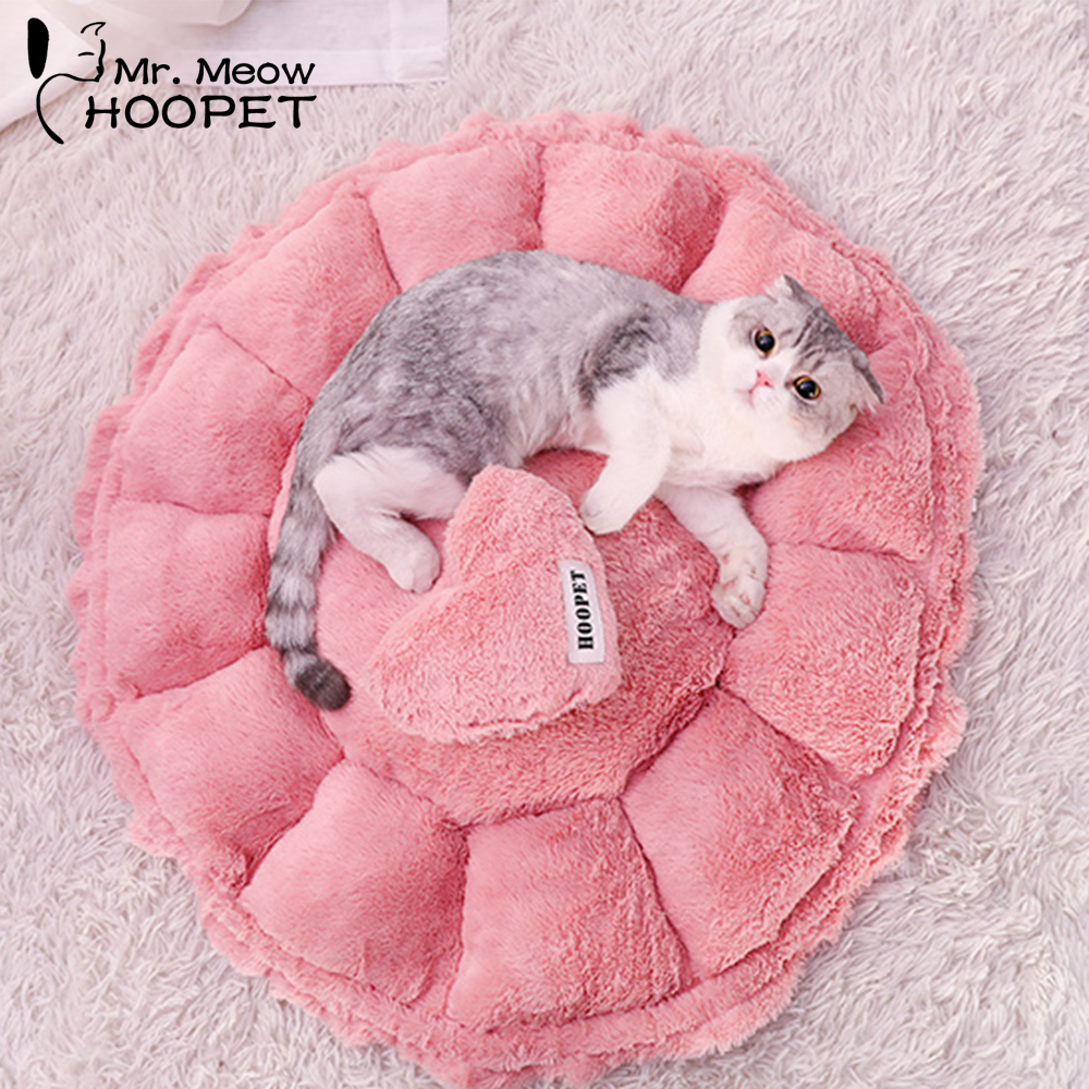 Hoopet Pet <font><b>Cat</b></font> <font><b>Bed</b></font> <font><b>House</b></font> Cute Lovely Pink Soft Nest Puppy Kennel Sofa Dog <font><b>House</b></font> <font><b>Cat</b></font> Sleeping Bag <font><b>Bed</b></font> Pet Products image