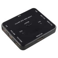 HDmatters-conmutador KVM USB HDMI, conmutador KVM de 2 puertos, 4K, HDMI, ratón USB, monitor y teclado, interruptor de compartir HDMI KVM con usb